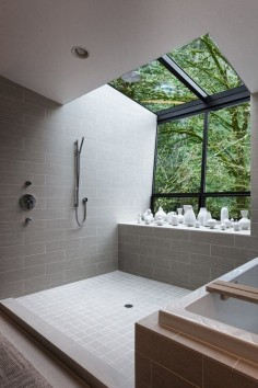 This beautiful bathroom with walk-in shower, designed by Skylab Architecture, is sure to inspire your next bathroom remodel or renovation, via @Sarah Sarna - Fashion, Interior Design, + Beauty