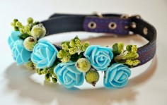 "This gorgeous floral work of art - ""22 Adorable Dog Collars You Need for your Pup,"" by Elaina Wahl (the whole list is cute)"