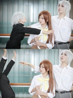 This is great! Only Nanami has dark brown hair - cosplay Kamisama Hajimemashita