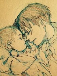 This is probably a shipping thing, but I just see a picture of Levi with a baby and I love it.