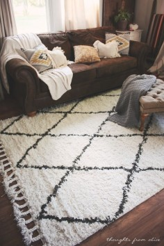 Thoughts from Alice: Boho Chic Living Room Makeover: Finding the Perfect Rug. Rugs USA Marrakesh Shag Rug. Rugs USA, area rug, rug, pattern, plaid, bedroom, living room, shaggy, home decor, interior design