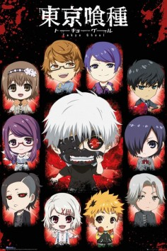 Tokyo Ghoul Chibi Characters - Official Poster