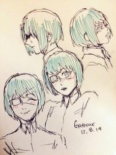 Tooru Mutsuki ||| Tokyo Ghoul Fan Art by gattoux on Tumblr