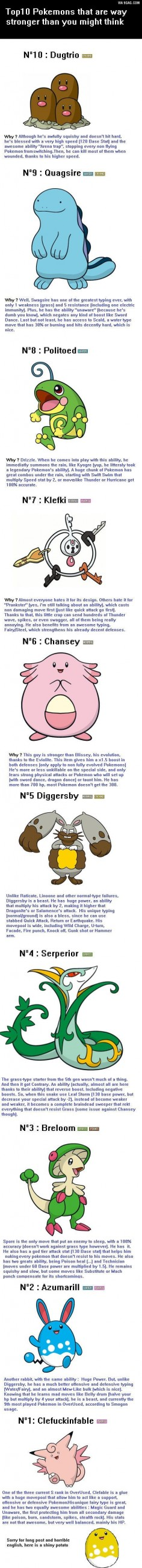 Top 10 Pokemons that are way stronger than you think