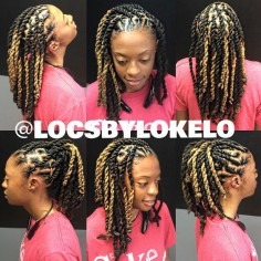 Two strand twist en locs