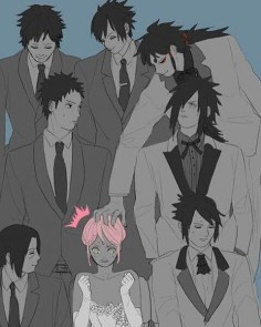 Uchiha pink hair. Hah, I would do the same thing.