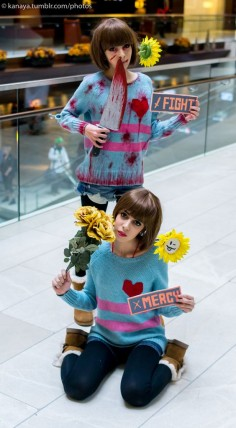 undertale cosplay frisk paccifist and genoicide