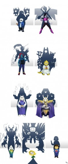 Undertale Shadows by LynxGriffin on DeviantArt       These are so good - the darkness within