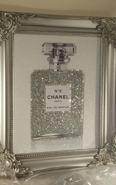 Unique 10x8 Shabby Chic Chanel No5 Canvas Print Swarovski Crystals,  | eBay