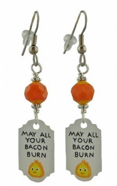 Unique Creations — Howl's Moving Castle Inspired Earrings, anime manga jewelry