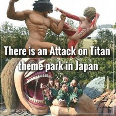 Universal Studios in Japan has constructed an Attack on Titan experience that allows guests to enjoy the feeling of being trapped inside the massive jaws of a  this is amazing - Anime : Attack on Titan - [#aot #attackontitan #snk #shingekinokyojin #anime #manga #otaku #animefact #animefacts]