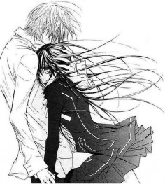 vampire knight. I'm on manga 17, in the beginning I liked seeing kaname and yuki together but now I'm rooting for zero and yuki to be together.