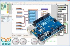Visuino - Visual dataflow  development environment for Arduino. Program your Arduino boards fast and easy! #Visuino #Arduino