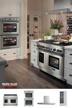 We know you love cooking! Thermador luxury cooking and refrigeration appliances are as intelligent as they are beautiful. The design of the Star Burner on the range offers greater heat coverage, and a smaller cold spot, making it ideal for any pan size. Within the refrigerator, wine storage columns preserve and age your favorite vintages with the dual independent temperature and humidity controls. Visit our Thermador page to learn more and start building your dream kitchen today!