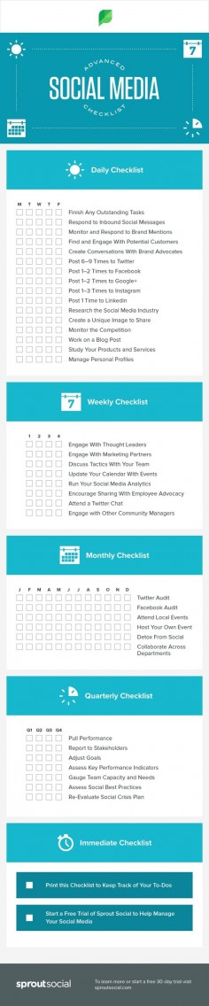 #WeKnowTheWeb #SocialMedia #Marketing #Checklist #Infographic