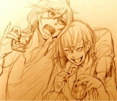Well, Madam Red and Grell are drunk! by Yana Toboso