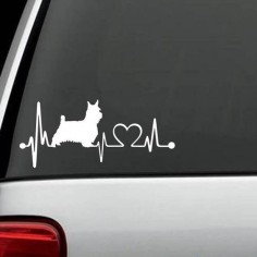 Westie HeartBeat Custom Decal