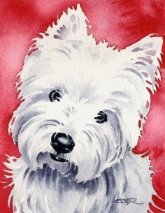 westie watercolor