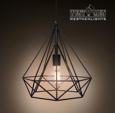 Westmenlights Diamond Geometric Industrial Chandelier Ceiling Pendant – westmenlights--Edison industrial lighting supplier and designer