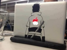 When I get a MacBook Air this winter I'm going to get a decal and I really want this one!!! | Naruto | Sasuke | Anime Merchandise |