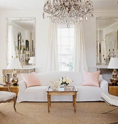 white + blush + gold