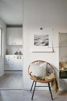 white + rattan + simple