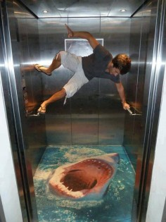 WhOoo!! That's so frikkin Awesomely Scary ~ Shark  would Totally LOVE this in a shower!! Imagine!! ≧`)))>