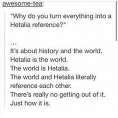 Why Hetalia references are OK to make everywhere | Tumblr