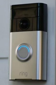 Wi-Fi-enabled doorbell Ring allows you to see and speak with everyone who comes to your door from your smartphone, regardless of where you are.