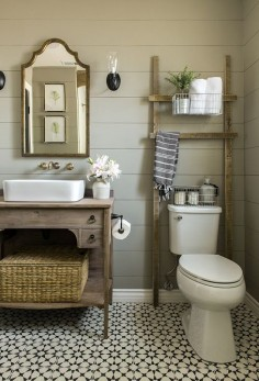Wood ladder above the toilet?