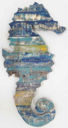 Wood Wall Art Sculpture Picture – Shabby Chic Vintage Seahorse in Home, Furniture & DIY   eBay