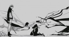 Sasuke - It's like the shadows are trying to pull him away.