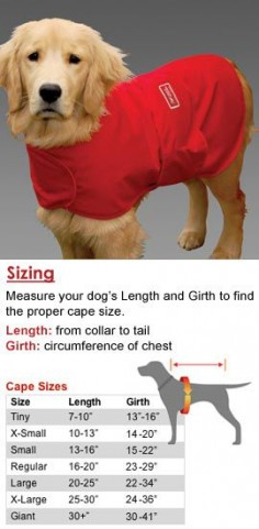 Wrap this cape around your dog to help reduce stress and anxiety. 98% effective!