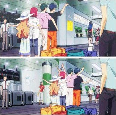 """XD Ami is just walking like """"whatever I don't know you guys"""""""