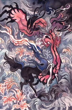 Xerneas and Yveltal by *creepyfish on deviantART
