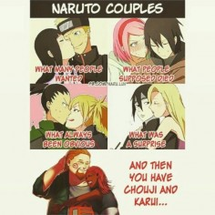 Yea i dont know how the pairing between chouji and karui happen they haven't even talked or been in the same scene together manga or anime yet I don't know maybe they're planning a short story to explain it all #anime #kawaii #narutouzumaki #hinatahyuga #narutoxhinata #narutothelastmovie #narutomovie7 #narutoshippuden #SakuraxSasuke #sakuraharuno #sasukeuchiha #shikamaruxtemari #Shikamaru #temari #chojixkarui #choji #karui #animememe #funnymoments #inoxsai #narutocouples