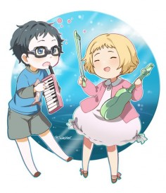 Your lie in April by Tetetier