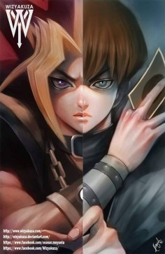 Yugi vs Kaiba by Wizyakuza on Deviantart