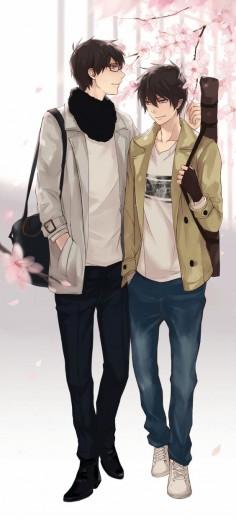Yukio & Rin | Ao no Exorcist #anime #shounen-ai #BL