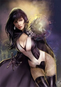 """Zatanna"" by Leo Rodrigues (leorodriguesart) & Sarah Christina (Forty-Fathoms) | #Comics #DCComics"