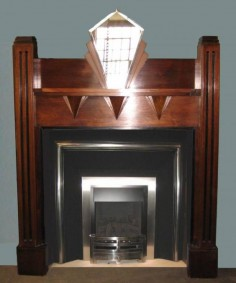 1930's Art Deco style fireplace