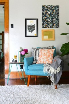 "A Master Bedroom Turned ""Colorful and Eclectic"" Living Space — Makeover 