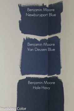 Benjamin Moore navy paint color ideas