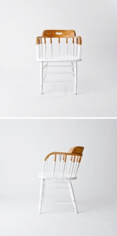 chair DIY But what if the wooden part was gold or black instead? Love  this chair is also kinda freaking me out. Idk why!