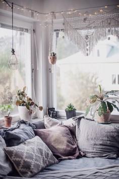 Cozy bohemian nook