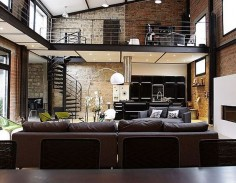 Exposed brick  chic and industrially modern I love it