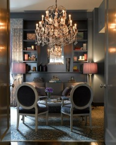 Gorgeous Grey With Beaded Chandelier