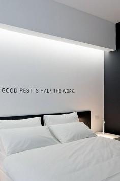 Indirect lighting, Bed'n Design hotel by Giuseppe Merendino _