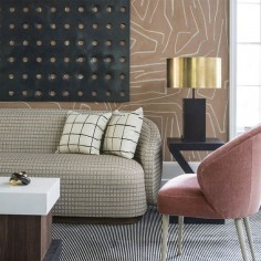 Kelly Wearstler fabrics, wallpaper and furniture