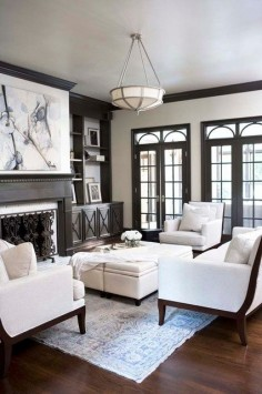 light walls dark trim | Dark wood trim & light gray walls | home is where your heart is